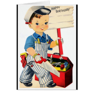 Happy Birthday - Young Handyman Card