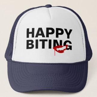 Happy Biting Customizable Trucker Hat