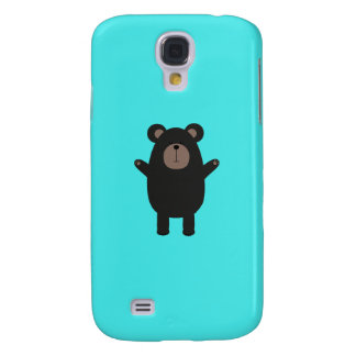 Happy Black Bear Q1Q Samsung Galaxy S4 Cover