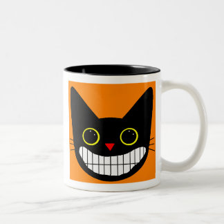 Happy Black Cat Two-Tone Coffee Mug
