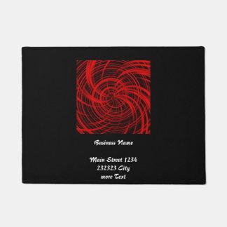 Happy, black red (C) Doormat