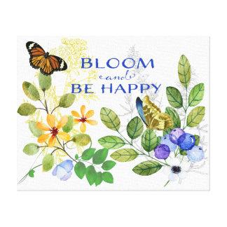 Happy Blooming Flowers Canvas Print