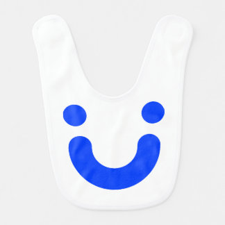 Happy blue baby bibs
