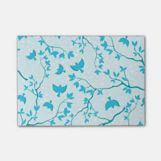 Happy Blue Birds Post-it Notes
