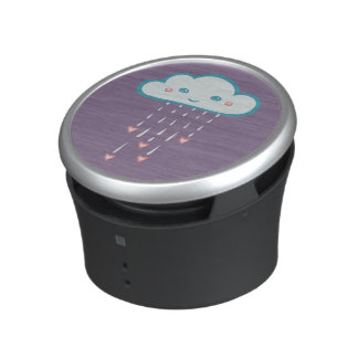 Happy Blue Rain Cloud Raining Pink Hearts Speaker