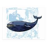 Happy Blue Whale Postcards