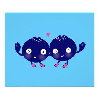Happy Blueberry BFFs Photo Print