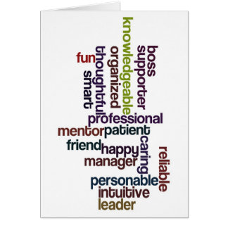 Happy Boss Boss's Day Colorful Word Art Card