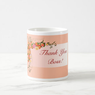 Happy Boss s Day for female boss with flowers Coffee Mugs