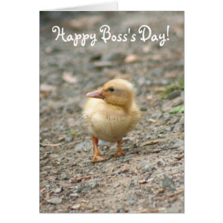 Happy Boss's Day Duckling greeting card