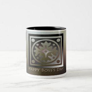 Happy Boss's Day Golden Classic Design Two-Tone Mug
