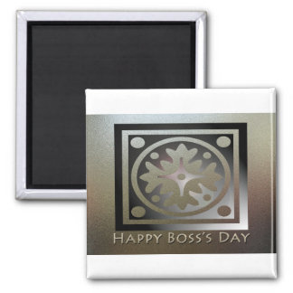 Happy Boss's Day Golden Classic Design Square Magnet