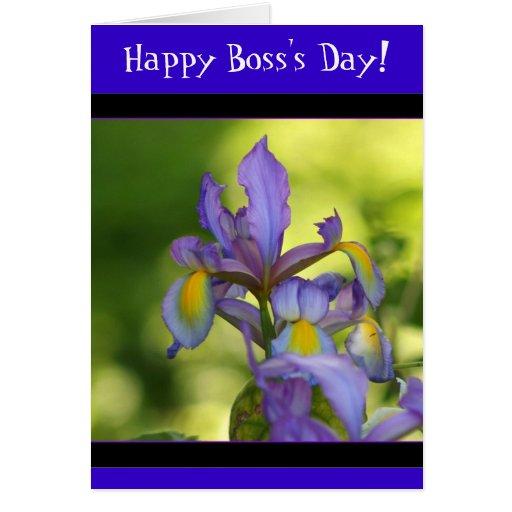 Happy Boss's Day Iris Greeting Card