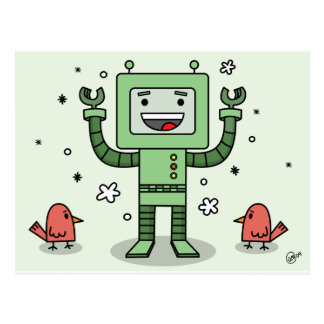 Happy Bot and Friends - PostCard