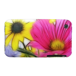 Happy Bouquet of Flowers Case-Mate iPhone 3 Cases