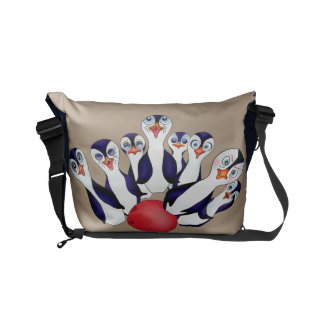 Happy Bowling & Penguinpins by The Happy Juul Comp Commuter Bags