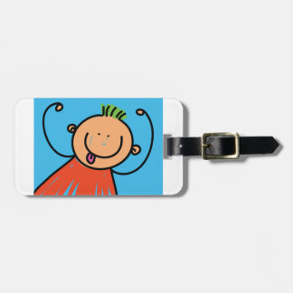 Happy Boy Luggage Tags