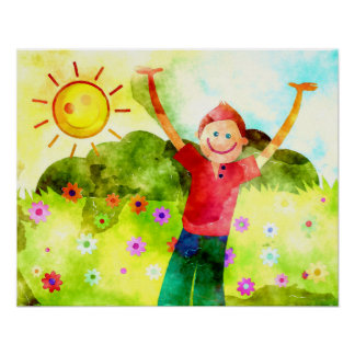 Happy Boy on a Sunny day Poster