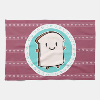 Happy Bread Slice Kitchen Towels
