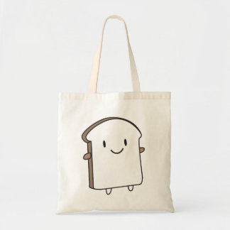 Happy Bread Slice Tote Bag