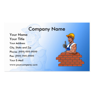 Happy Bricklayer Pack Of Standard Business Cards