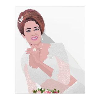 HAPPY BRIDE ACRYLIC WALL ART