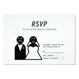 Happy Bride Sad Groom Funny Wedding Card
