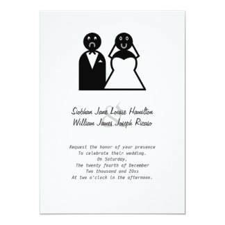 Happy Bride Sad Groom Funny Wedding Card