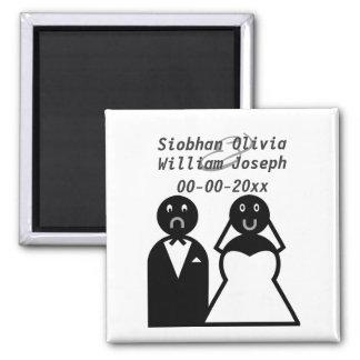 Happy Bride Sad Groom Funny Wedding Magnet
