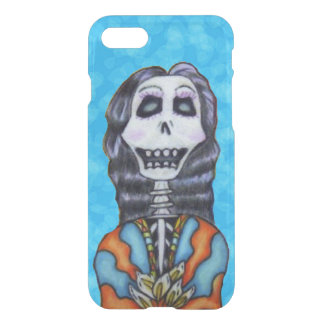 Happy Bright Lady Day of Dead Skeleton Flowers iPhone 7 Case