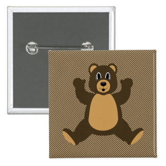 Happy Brown Bear Color Swatches Button