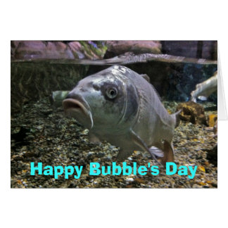 Happy Bubble's Day Birthday Card with Fish