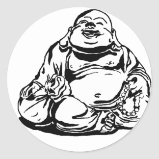 Happy Buddha Classic Round Sticker