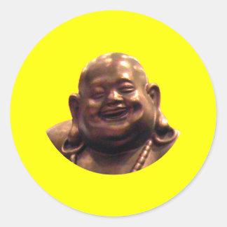 Happy Buddha Shanghai 2002 Circle The MUSEUM Zazz Round Stickers