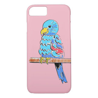 Happy Budgie on a Perch iPhone 8/7 Case