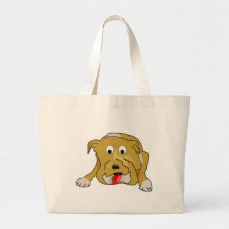 Happy Bulldog Canvas Bag