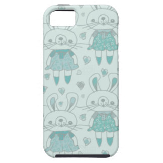Happy Bunnies in Blue Case For The iPhone 5