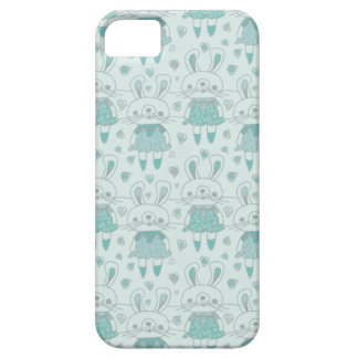 Happy Bunnies in Blue iPhone 5 Covers