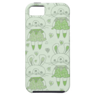 Happy Bunnies in Green Case For The iPhone 5