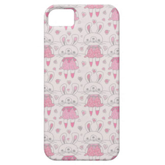 Happy Bunnies in Pink Barely There iPhone 5 Case
