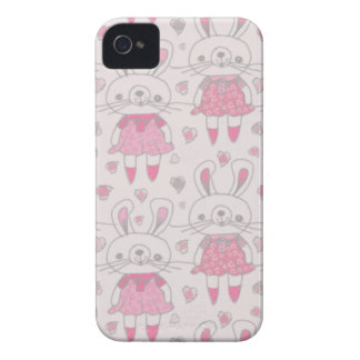 Happy Bunnies in Pink iPhone 4 Cover