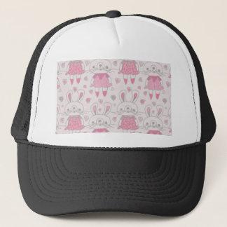 Happy Bunnies in Pink Trucker Hat