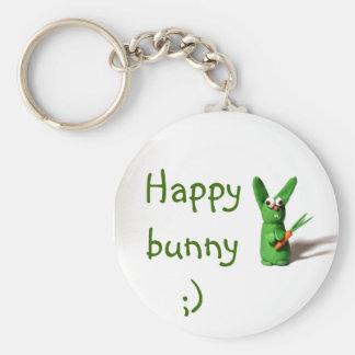 Happy bunny ;) basic round button key ring