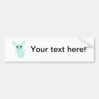Happy bunny cartoon bumper sticker