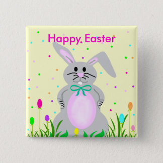 Happy Bunny, Happy Easter template button