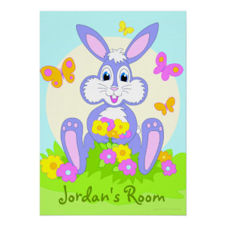 Happy Bunny Personalized Cartoon Poster