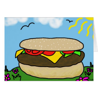 Happy Burger Day Card (Blank)