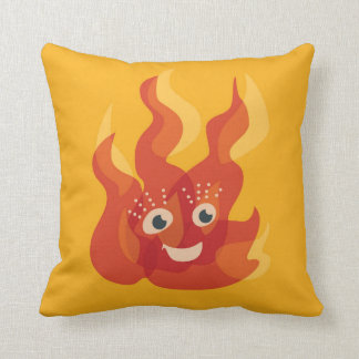Happy Burning Fire Flame Character Cushion