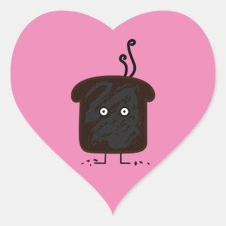 Happy Burnt Toast Heart Sticker