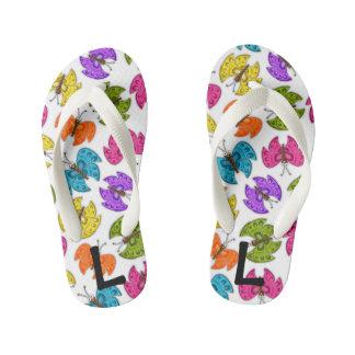Happy Butterflies Flip Flops, Kids and Toddlers Kid's Thongs
